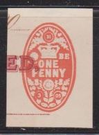 GREAT BRITAIN Used 1905 Revenue - One Penny Embossed - Steuermarken