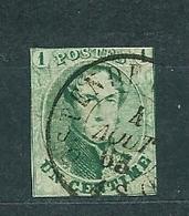 [9_0001] Zegel 9 Met Dubbelcirkelstempel Ostende Scan Voor- En Achterzijde - 1851-1857 Medallions (6/8)