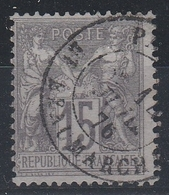 66 SAGE 15 C GRIS  N S/ B - Belle Oblitération - 1876-1878 Sage (Tipo I)