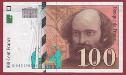 "100 Francs ""Cézanne"" 1998---SUP--ALPH .K.----Numéro.045198506 - 1992-2000 Ultima Gama"