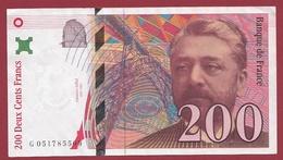 """200 Francs """"Eiffel"""" 1997---SUP--ALPH .G ----Numéro.051785509 - 1992-2000 Dernière Gamme"""