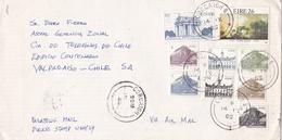 IRLANDE ENVELOPPE CIRCULEE DE CORCAIGH A VALPARAISO, CHILE ANNEE 1985 PAR AVION -LILHU - 1949-... Republic Of Ireland