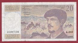 "20 Francs ""Debussy"" --1993---TTB+--ALPH .A.042 - 20 F 1980-1997 ''Debussy''"