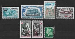 1973 Réunion N° 414 à 420 Nf** MNH . - Réunion (1852-1975)
