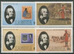 Sambia 1979 Sir Rowland Hill Briefmarken 213/16 Postfrisch - Zambia (1965-...)