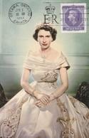 CANADA Carte Maximum Yt 265 Queen Elisabeth II  1953  Maximum Card - Maximumkaarten