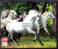 2018 Croatia Protected Horse Breeds - Lipizzan / Lippizener MS MNH** MiNr. 1345 (Block 72) Nature, Forest, Trees - Croacia