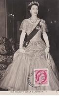 CANADA Carte Maximum Yt 269 Queen Elisabeth II   Maximum Card - Maximumkaarten