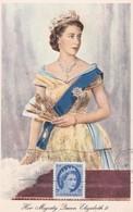 CANADA Carte Maximum Yt 271 Queen Elisabeth II   Maximum Card Oblitération à L'envers - Maximumkaarten