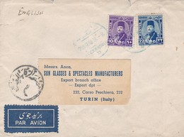EGYPTE ENVELOPPE CIRCULEE DE ALEXANDRIE A TURIN ITALIE ANNEE 1948 PAR AVION  -LILHU - Covers & Documents