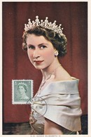CANADA Carte Maximum Yt 261 Queen Elisabeth II  1953   Maximum Card - Maximumkaarten