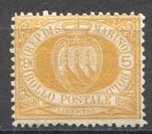 SAN MARINO 1877 STEMMA 5 C.** MNH - Saint-Marin