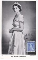 CANADA Serie 5 Carte Maximum Yt 260 à 264  Queen Elisabeth II  1953   Maximum Card  5 Scans - Maximumkaarten