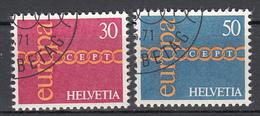 Zwitserland  Europa Cept 1971 Gestempeld Fine Used - 1971