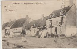 Sens-Beaujeu  18  La Place (Coté-Nord) Animée Et  POTIER  Aubergiste - France
