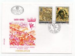 YUGOSLAVIA,FDC, 22.06.1990. COMMEMORATIVE ISSUE:IDRIA SILVER MINE 500th ANNIVERSARY - FDC