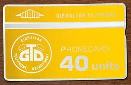 GIBRALTAR GTD CARTE HOLOGRAPHIQUE N°909A PHONECARD CARD - Gibraltar