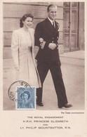 CANADA Carte Maximum Yt 227 Pricesse Elisabeth   And  Philip Moutbatten 1950  Maximum Card - Maximumkaarten