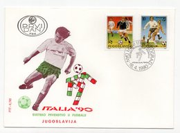 YUGOSLAVIA, FDC, 16.04.1990. COMMEMORATIVE ISSUE: ITALY 90, FOOTBALL WORLD CUP - FDC