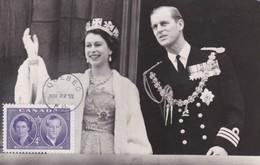 CANADA Carte Maximum Yt 250 Queen Elisabeth ,duke Edinburgh 1952  Maximum Card - Maximumkaarten