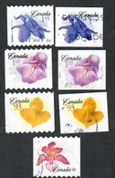 Sc. # 2194-2700 Flower Definitive Booklet And Coil Varieties Set Used 2006 K364 - 1952-.... Règne D'Elizabeth II