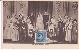 CANADA Carte Maximum Yt 227 Queen Elisabeth ,royal Wedding Group 1950  Maximum Card - Maximumkaarten