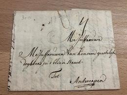 Pli D'Amsterdam Vers Antwerpen 7 Avril 1730 TB Superbe Cachet De Cire (document Partiel) - ...-1852 Vorläufer