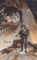Cpa ( Colorisée )- Militaria-chasseur Alpin / Bersaglier Alpini -uniforme-edi L N°23 - Reggimenti