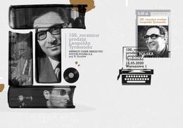 2020 Poland  100th Anniversary Of The Birth Of Leopold Tyrmand Writer Novelist Jazzman FDC - FDC