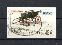 SPAGNA :  Etichetta Da ATM - Carrozza Phaeton Exclusive  (1850)  1 Val.  Su Frammento   Del  13.10.2003 - 1931-Heute: 2. Rep. - ... Juan Carlos I