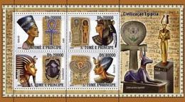 SAO TOME E PRINCIPE 2008 SHEET CIVILIZATION OF EGYPT CIVILIZACION EGIPCIA St8401a - São Tomé Und Príncipe