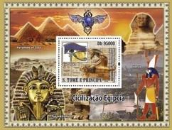 SAO TOME E PRINCIPE 2008 SHEET CIVILIZATION OF EGYPT CIVILIZACION EGIPCIA St8401b - São Tomé Und Príncipe
