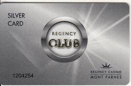GREECE - Regency Casino Mont Parnes, Silver Member Card, Used - Gift Cards