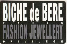 GREECE - Biche De Bere(Fashion Jewellery), Privilege Member Card, Sample - Other Collections