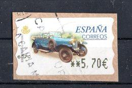 SPAGNA :  Etichetta Da ATM - Rolls  Royce  S.G.  (1919)  1 Val.  Su Frammento -  Dicembre 2001 - 1931-Heute: 2. Rep. - ... Juan Carlos I