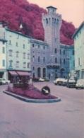 PORRETTA TERME - PIAZZA DELLA LIBERTA' - AUTO D'EPOCA CARS VOITURES : FIAT 850 COUPE' - 500 - ALFA ROMEO GIULIA - Italie