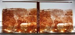 YPRES IEPER BLOCKAUS EN FASCINE PRIS AUX BOCHES BELGIQUE GUERRE 14-18 PHOTOGRAPHIE PLAQUE VERRE STEREOSCOPIQUE MILITARIA - Guerra, Militari