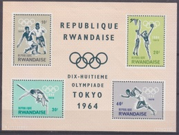 1964Rwanda85-88/B21964 Olympic Games In Tokio7,50 € - Summer 1964: Tokyo