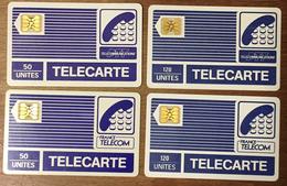 LOT DE 4 TELECARTE PYJAMAS SCHLUMBERGER DIFFÉRENTES 50 & 120U PHONE CARD - Pyjamas'