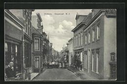 AK Boskoop, Dorpstraat, Einwohner Auf Der Strasse - Boskoop