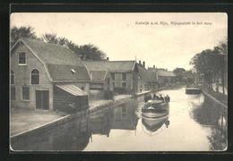 AK Katwijk A. D. Rijn, Rijngezicht In Het Dorp - Katwijk (aan Zee)