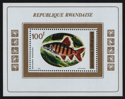 Ruanda 1973 - Mi-Nr. Block 33 A ** - MNH - Fische / Fish - Ruanda