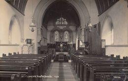 Lowfield Heath Church Organ Interior Surrey Antique Old Real Photo Postcard - Religions & Croyances