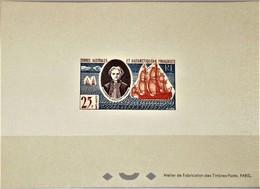 # TAAF / FSAT / FRENCH ANTARCTIC TERR: Mi #23 Yv #21 Sc #20 Kerguelen Tremarec / Ships / Bateaux (1960) Block Deluxe - Imperforates, Proofs & Errors