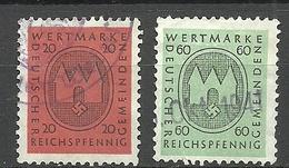 Deutsches Reich Wertmarke Deutscher Gemeinden - Third Reich Revenues 20 & 60 Pf. O - Service