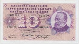 1963 - 10 Franken Note - Schweiz, Suisse, Svizzera - Wenig Gebraucht - Svizzera