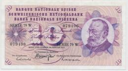 1972 - 10 Franken Note - Schweiz, Suisse, Svizzera - Wenig Gebraucht - Svizzera