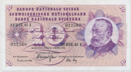 1973 - 10 Franken Note - Schweiz, Suisse, Svizzera - Wenig Gebraucht - Suiza