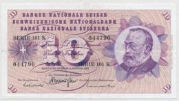 1977 - 10 Franken Note - Schweiz, Suisse, Svizzera - Wenig Gebraucht - Suiza