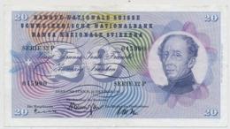1961 - 20 Franken Note - Schweiz, Suisse, Svizzera - Wenig Gebraucht - Svizzera